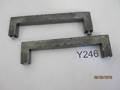 5 QTY Vintage Steel Cabinet Drawer Pull 6'' OAL, 5.45'' Center to Center 2 • CAD $50.39