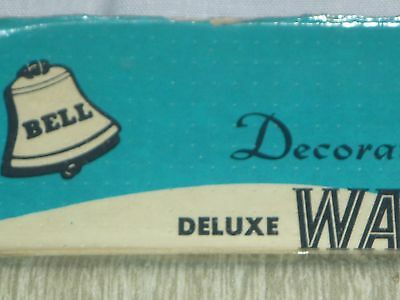 NOS Vintage Mid Century Bell Single Switch/Duplex Plate Metal Limed Oak 4