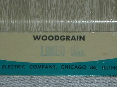 NOS Vintage Mid Century Bell Single Switch/Duplex Plate Metal Limed Oak 3