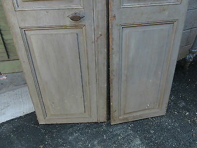 """pAIR ~ LATE 19th century antique furniture CABINET DOORS 74.5"""" x 21"""" & 18.25"""" 10"""