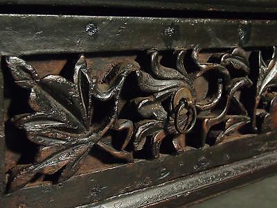 Beautiful Chinese Black Walnut Warrior Cabinet Antique 8
