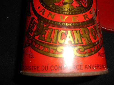 Le Pelican Rouge Cafe Torrefie Kaffeedose ca. 1920 aus Sammlungsauflösung 9