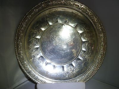"""Amazing Towle Sterling Silver Tray Charger Plate Old Master #6668 12"""" Wide 7"""