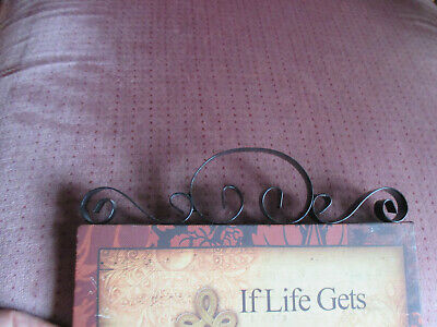 When Life Gets Too Hard to Stand, Kneel Cross 8X10 Wall Plaque Black Scroll top 4