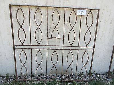 Antique Victorian Iron Gate Window Garden Fence Architectural Salvage Door #630 2