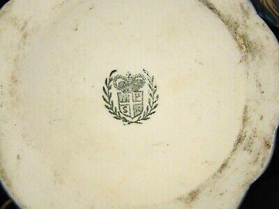 "Antique Continental Porcelain Hand Painted Cobalt & Gold Urn mid 19th c 7""h 7"