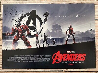 "Lot of 2 - AVENGERS ENDGAME AMC IMAX Mini Poster (11"" x 15.5 "") NEW 2"