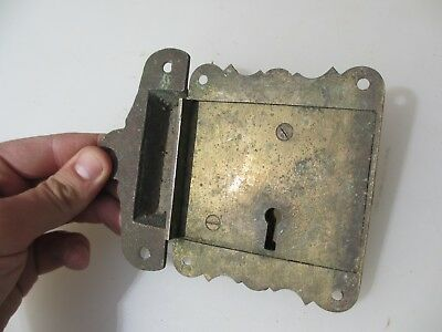 "Georgian Brass Door Lock Keep Antique Victorian Old Sri Lanka Colonial ""Galle"" 10"