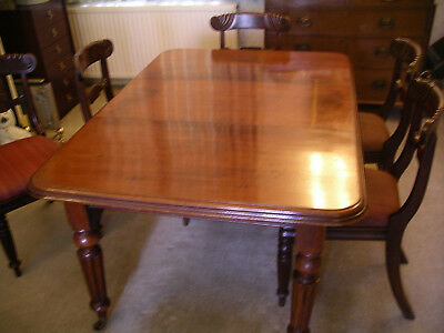 Victorian mahogany wind out dining table. Lovely patina 7
