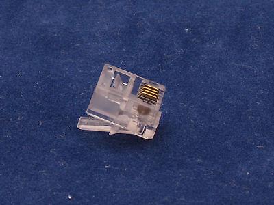 Lot 1000 X PCS CAT3 Phone Connector End RJ11 6P4C Modular Plug Telephone Adapter
