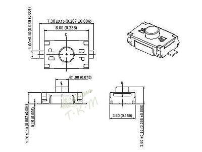 Telecomando Per Citroen C1 C2 C3  Berlingo Picasso Cr2016 Batteria + 2 Pulsante 6