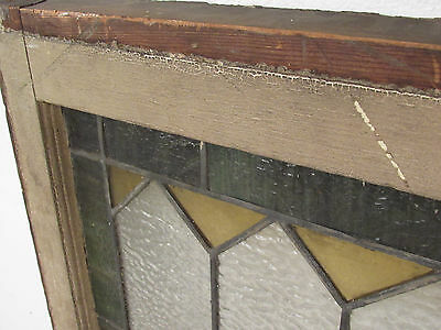 Antique Vintage Stained Glass Hanging Window (1353)NJ 10