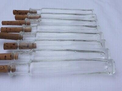 2 x alte kleine Medizin Glas Apotheke Apotheker Flasche klar lang ca. 10,2 cm 10