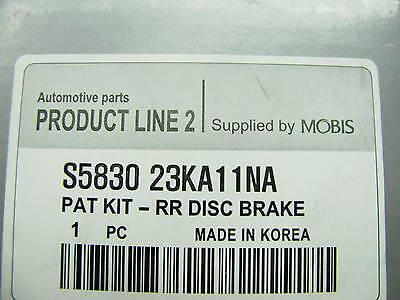 Genuine Rear Disc Brake Pads OEM For Hyundai S583023KA11NA