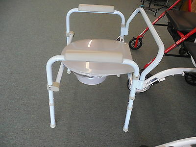 Drive Medical Folding Steel Commode RTL11158KDR Potty Chair ~Free Shipping~NEW 3