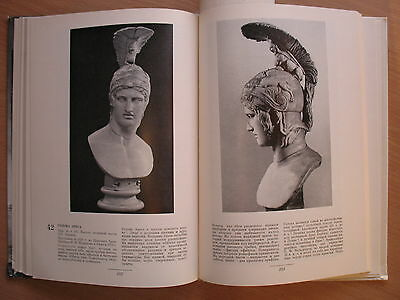 Russian Book Antique Art Stone Vintage Greek Sculpture Statue VTG Bust Antic Old