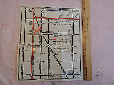 Subway Map Before 1933.Rare 1937 New York City Subway Map Nyc Ind Ind 1933 Brooklyn Manhattan