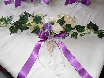 Tischdekoration 7 Teilig Herz Lila Tischdeko Hochzeit Kommunion