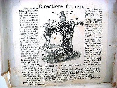 Antique Victorian Miniature Sewing Machine 8