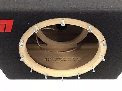 JL Audio 12W7 AE sealed subwoofer box with black plexi logo