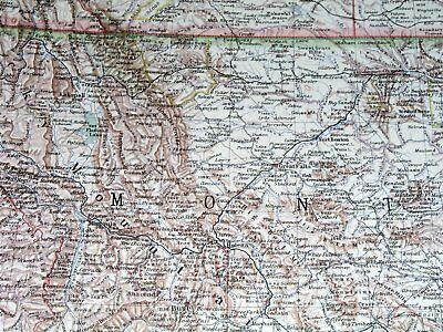 1932 Original Vintage Map Of Nw Usa Washington Oregon Idaho Montana California 3