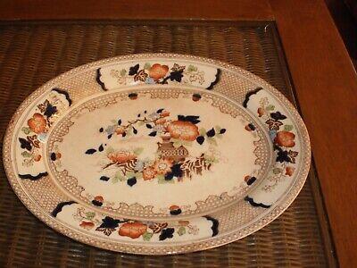 "Antique 1902 ""Peel"" Soho Pottery Limited Cobridge England Serving Platter 2"