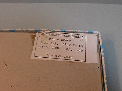 BRNO Plate Karlsbad Porcelain Czechoslovakia Era Bohemia Moravia St Peter /& Paul