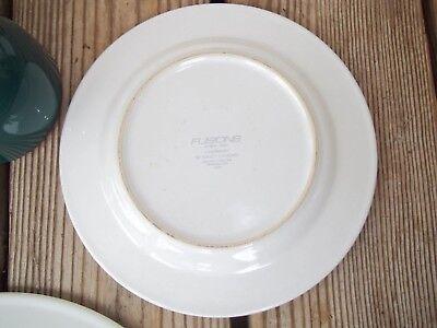 Nancy Calhoun Fusions Evergreen Raspberry Set Dinner Salad Plate Coffee Cup 4 PC 9