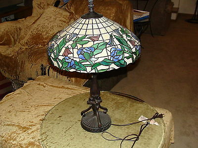 Paul Sahlin Tiffany Style Stained Glass Table Lamp