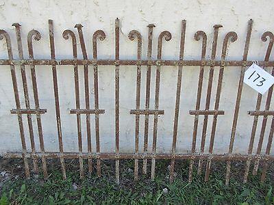 Antique Victorian Iron Gate Window Garden Fence Architectural Salvage Door #173 4