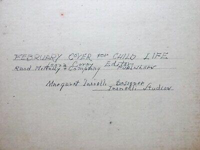 Margaret Iannelli original drawing Prairie School peer of FL Wright c.1925 3