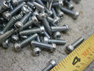 Machine Screw 8//32 x 1//4 Long Phillips Fillister Head Steel Zinc Lot of 49 #5987