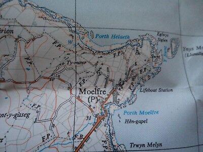 "RARE Ordnance Survey Map 2.5""  COASTAL map SH58 Red Wharf Bay 1956 Llanbedrgoch 3"
