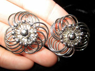 3 Of 4 Vintage Napier Sterling Silver Clip Earrings Signed 19 2g