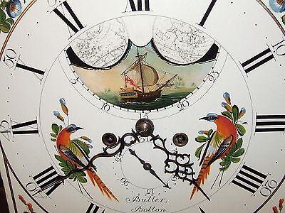 ~ Antique Mahogany Halifax Moon Longcase Grandfather Clock by Butler BOLTON 6