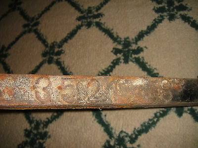 Antique Peerless Andirons-Cast Iron-3521-Resembles Rooster Running-Pair-LQQK 8