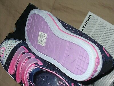 "Skechers Girl's Twinkle Toes Limited Edition Sz1.5 NWB. 10959L/DNPK 9"" IN LENGTH 9"