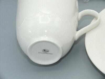 Winterromantik Weiß Kaffee-Set Becher Teller HUTSCHENREUTHER Set 6-tlg
