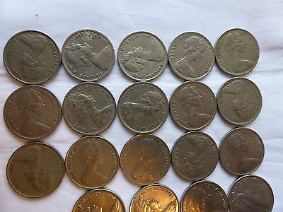 Australian 5 cent coin collection 1966 to 2017 circ set incl 1972 & both 2016 5c