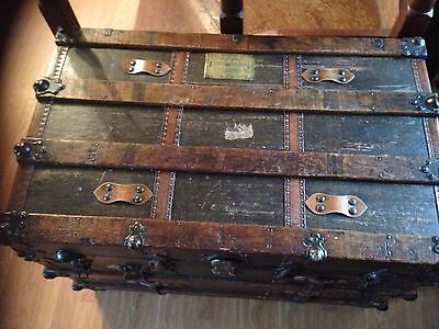 Antique Vintage Ships Trunk 19th Century, Collectable S S Friesland Ship 2