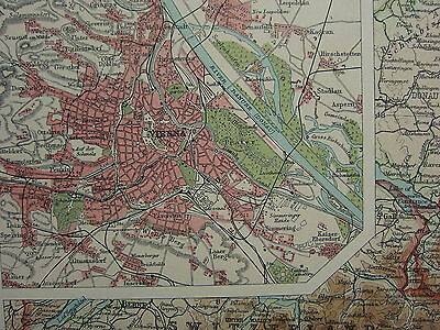 Map Of Northern Italy And Austria.1920 Large Map Northern Italy Austria Vienna City Plan Trieste