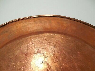 Vintage Arts & Crafts 12 inch Hammered Copper Plate 589 grams 8