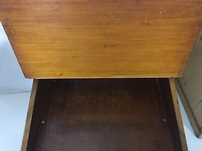 Antique victorian burr Walnut Inlaid Table Top Writing desk 5
