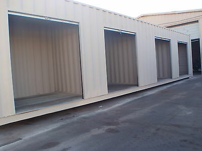 Shipping Container Portable Storage building with four roll up doors 5