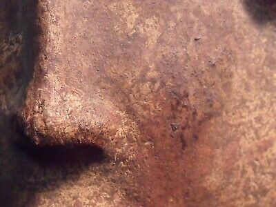 "Antique Pre-Columbian 9 1/4"" Pottery Face Mask 5"