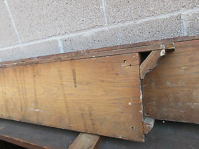 "PAIR ~ c1890 VICTORIAN OAK window DOOR header pediment crown MOLDING 43"" & 37"""
