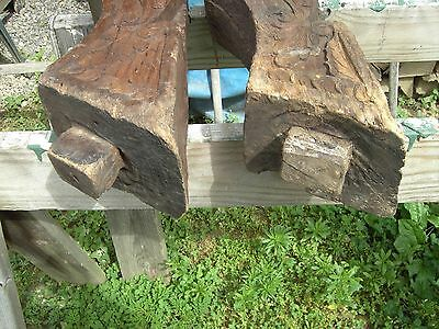 Pr B Pacific Island Hand Carved Corbels Antique shrine Home Architectural Salvag