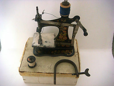 Antique Victorian Miniature Sewing Machine 9
