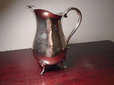 Vintage Gorham Newport Silverplate VB400 Water Pitcher with Ice Lip Beautiful A3 2