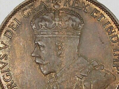 Unc 1913 Canadian Large Cent Penny (Red-Brown). CANADA.  #138 3